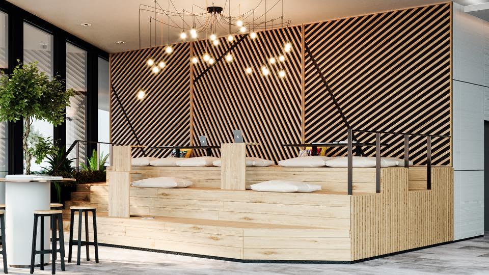 Lemon Interior Design Lobby design concept for One North Gate